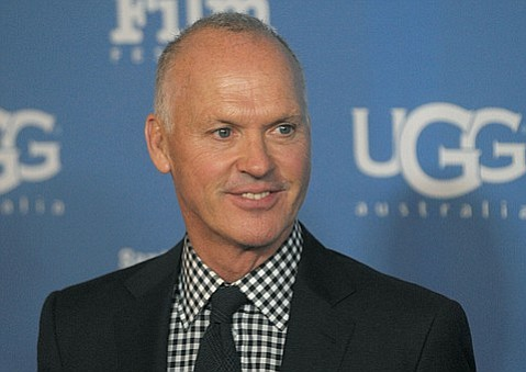 2015 SBIFF 'Modern Master' recipient Michael Keaton on the red carpet at the Arlington Theatre. (Jan. 31, 2015)