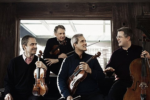 <b>NEW BLOOD: </b> Last year, the three-decade-strong Emerson String Quartet welcomed new cellist Paul Watkins, who replaced founding member David Finckel. This Saturday, February 7, the group performs at UCSB.