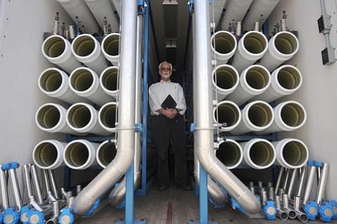 Former city water planner Bill Ferguson at the Desalination Plant