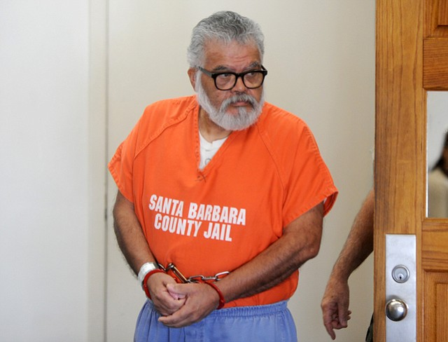 Manuel Munoz leaves the courthouse (Feb. 9, 2015)