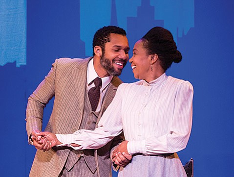 <b>UNDERNEATH IT ALL:</b>  A.K. Murtadha (left) and Karole Foreman star as George and Esther in Ensemble Theatre Company's <i>Intimate Apparel</i>.