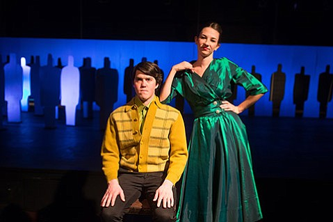 <b>A BUG'S LIFE:</b>  Brent Starrh and Elaine Pazaski are just two of the 19 actors taking on more than 30 different roles in the upcoming Westmont production of the Czech play The Insect Comedy.