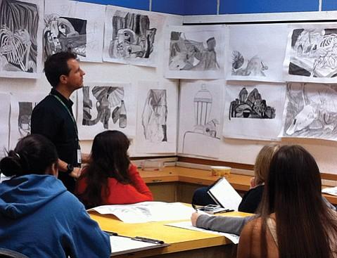 <b>BY DESIGN:</b>  VADA director Daniel Barnett is pictured conducting a class at Santa Barbara High.