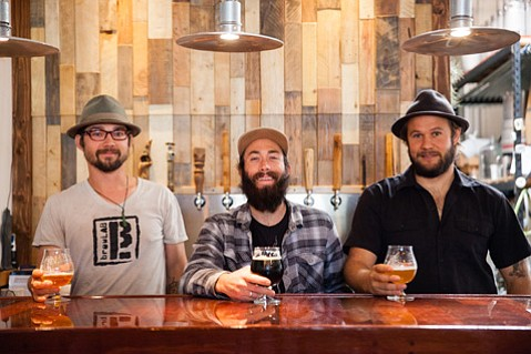 brewLAB's founders (from left) Peter Goldammer, Steve Jarmie, and Rob Peed.
