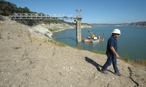 <b>LOW DOWN:</b> Water agencies spent $5 million to build an emergency pump to move water out of Lake Cachuma. However, the pump may never get used if Lake Cachuma runs out of water — as is anticipated by this October.