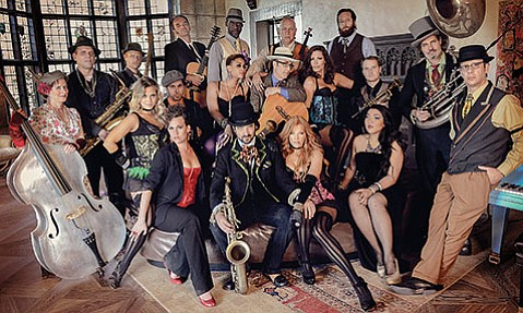 <b>IT TAKES A VILLAGE:</b>  The many members of Los Angeles band Vaud and the Villains return to Santa Barbara for a night of vaudeville, big band, and revelry on Saturday, March 21.