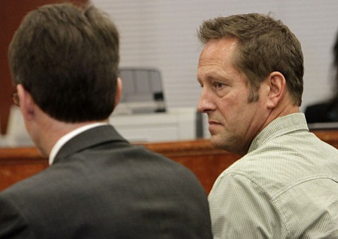Pioneer Valley High teacher and coach Brian Hook appears in a Santa Maria courtroom Thursday and pleads no contest to four counts of sex with a minor.