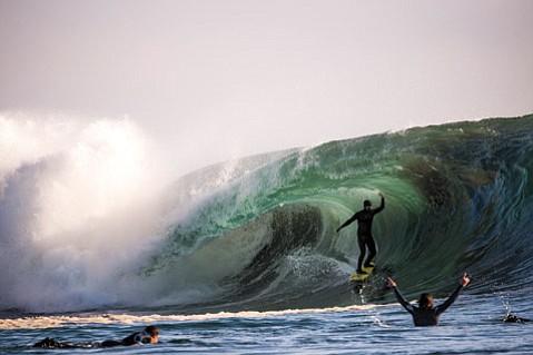 <b>DECKED OUT:</b>  Patagonia surf ambassador Ramon Navarro sports all plant-based neoprene.