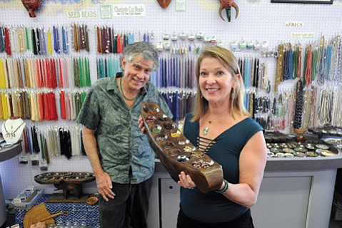 <b>CRAFTY: </b> Andy and Barbara Nelson's store has been meeting customers' beads needs for three decades.