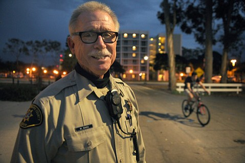 <b>FRONT LINE: </b> Mark Ward was one of the first Sheriff's deputies to test the department's new body cameras.