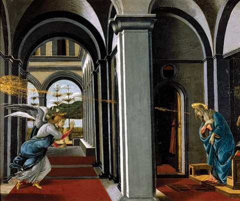 """<b>MIRACLES:</b>  Among our small-town pleasures is the Museum of Art exhibit featuring Botticelli, including """"The Annunciation."""""""