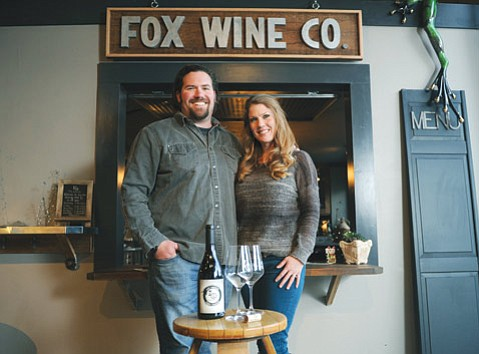 Winemaker Blair Fox (above with wife Sarah Fox).