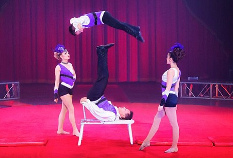 <b>AIRBORNE RELATIVES: </b>The acrobatic Poema family is one of the stars of a now animal-less Circus Vargas.
