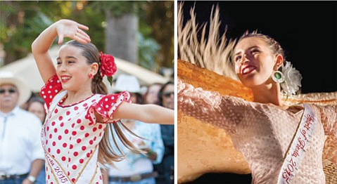 "<b>DANCING DREAM:</b> ""I just really love the passion of flamenco,"" said 10-year-old Junior Spirit Ysabella Yturralde (left) of why she enjoys the dance style. Yturralde, along with the Spirit, 18-year-old Alexandra Freres, will open Old Spanish Days at La Fiesta Pequeña. ""I've watched many Spirits over the years, and now that I'm the Spirit, it feels like it's come full circle for me,"" said Freres of the honor."