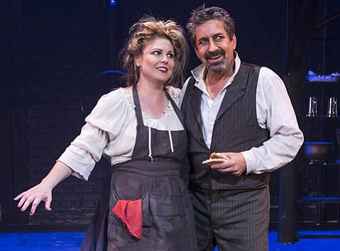 Heather Ayers, David Studwell in Ensemble Theatre Company's production of <em>Sweeney Todd</em>.