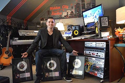 <b>DARK HORSE:</b>  Elliott Lanam, 25, opened Hidden City Studios as an approachable alternative to Santa Barbara's high-end music studios.