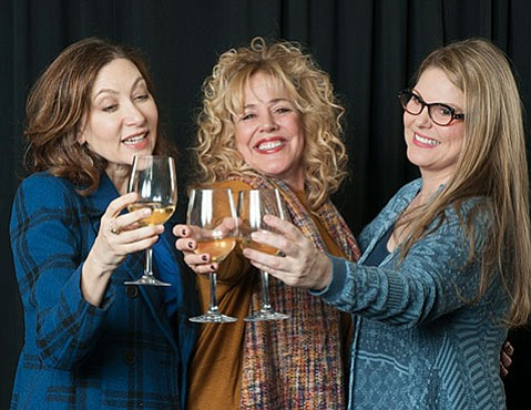 <b>CHATEAU RELAXO:</b> The three leads in <i>Women in Jeopardy!</i> unwind with some chardonnay. From left, they are Annabelle Gurwitch, DeeDee Rescher, and Heather Ayers.