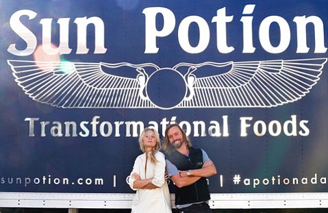 <strong>GOOD EATS:</strong>  Scott Linde and Nitsa Citrine have found health and love through their business.