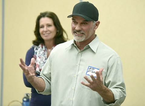 <strong>Man on Mission:</strong>  Ed St. George takes development plans to hostile neighbors.