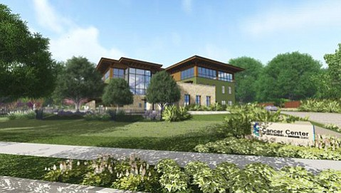Artist's rendering of new Cancer Center building.