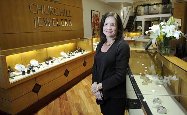 Lexi Kern owner of Churchill's' Jewelers. (Nov. 30, 2015)