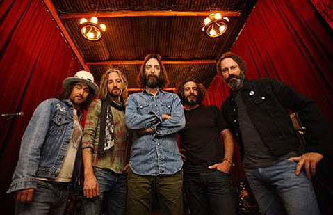 <b>HERE'S TO YOU, MR. ROBINSON:</b>  The ex-Black Crowes member (center) founded the Brotherhood to explore the more psychedelic side of blues-rock.