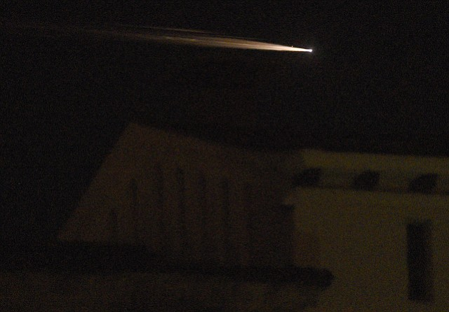 The mysterious fireball seen Tuesday night from Mexico to Las Vegas was a Russian SL-4 rocket body burning up as it returned to the atmosphere.