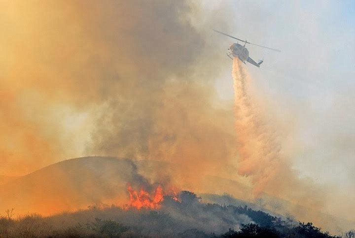 Sixty-percent contained as of Saturday evening, the Solimar Fire burned 1,250 acres at its height mid-afternoon Saturday.