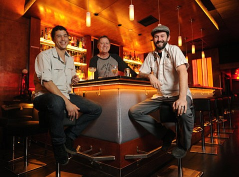 CAT POWER: Pictured from left, Shaun Belway, Bob Stout, and Patrick Reynolds are the cool cats behind the Bobcat Room, Wildcat's new speakeasy neighbor.