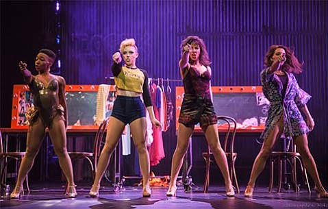 <b>HARRY'S ANGELS:</b>  In <i>Flashdance the Musical</i>, the dancers at Harry's place (pictured) are the good girls. The girls who work across the street at Chameleon Club are their rivals.