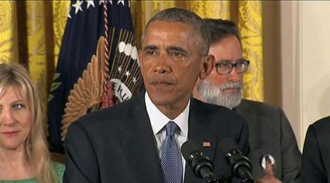 President Obama and Richard Martinez