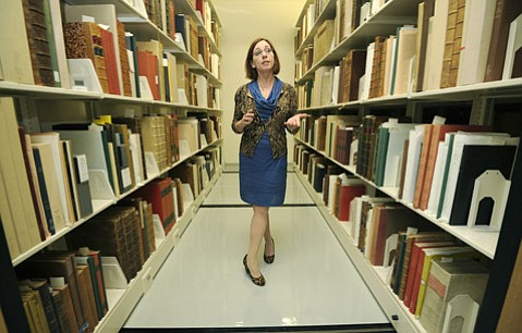<strong>HIDDEN TREASURES:</strong>  Danelle Moon is in charge of the library's Special Research Collections.