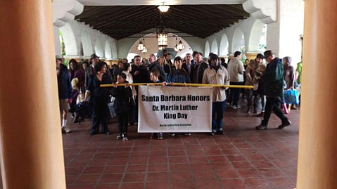 Hundreds joined Santa Barbara's March in Unity in honor of Martin Luther King, Jr.