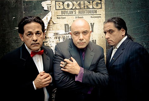 <b>TELLIN' IT LIKE IT IS:</b>  Culture Clash's (from left) Ric Salinas, Herbert Sigüenza, and Richard Montoya use satire to find common ground with people that are opposed to your political beliefs, religion, or ideas.