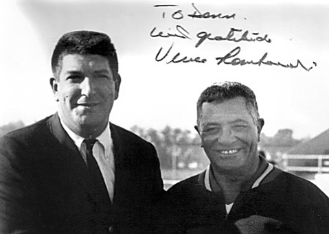 Vince Lombardi (right) and UCSB sports publicist Donn Bernstein