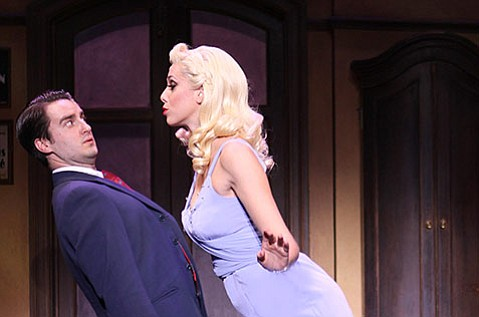 <b>SHE'S GOT IT:</b>  Leo Bloom (Richard Lafleur) gets a load of Ulla from actress Jessica Ernest in <i>The Producers</i>.
