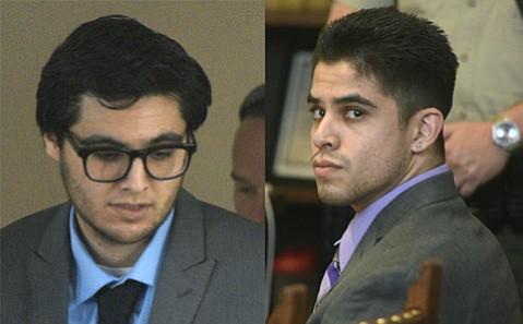 Isaac Jimenez (left) and Joseph Castro