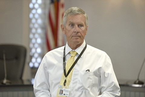 David Cash, Superintendent of Santa Barbara Unified School District, holds a press conference addressing a nonspecific threat to local schools made via social media.