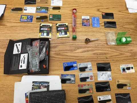 Four central Californians were arrested Wednesday in Carpinteria for suspected involvement in an identity theft ring and for drug charges.