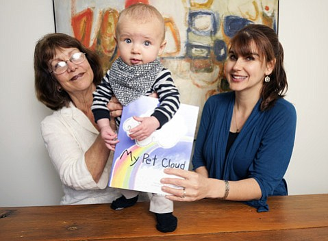 <strong>ALL IN THE FAMILY:</strong> Written by Kisha Gianni (right) and illustrated by her mom, Lyn (left), My Pet Cloud came out a month before the birth of Kisha's son, Kai.