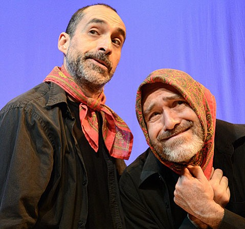 <strong>CHARACTER STUDY:</strong>  Brothers Bruno and Odiseo Bicher play extras Charlie and Jose and all of the other characters in this adaptation of the acclaimed tragicomic Irish play <em>Stones in His Pockets</em>.
