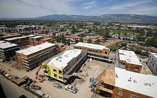 """<strong>A DEAL'S A DEAL:</strong>   During a moratorium on new connections, the Goleta Water District confirmed service for UCSB's 165-unit San Joaquin Apartments project, now under construction. UCSB can lay legal claim to half of the area's unused """"stealth demand,"""" based on a 1973 permit with the district and a later water agreement with the Bishop Ranch. Goleta also signed off on water service for more than 600 new private homes and apartments."""