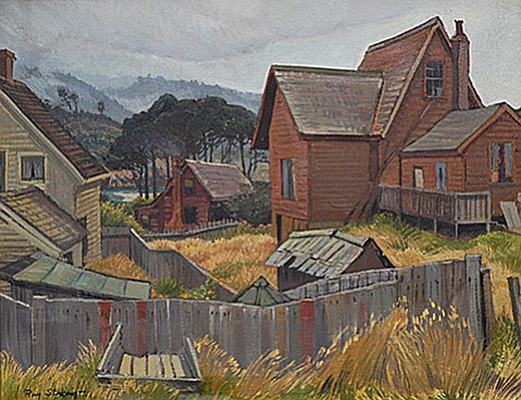"""<strong>STRONG CHARM: </strong> The new monograph Ray Strong, American Artist pays tribute to Santa Barbara's most influential artist and his paintings, including works like """"Shanties and Shacks"""" (above)."""