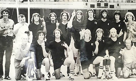 <strong>GAUCHO GLORY:</strong>  UCSB's 1974 men's volleyball team will be inducted into the Gaucho Athletic Hall of Fame this Saturday at the Lobero Theatre.