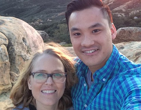 The author and her boyfriend Bryan Nguyen at Lizard's Mouth.
