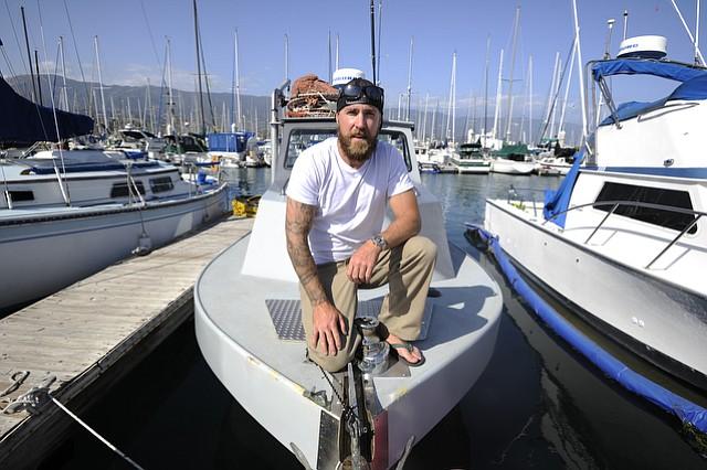 John Hoadley on his boat The Carlos