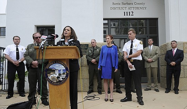 Santa Barbara District Attorney Joyce Dudley, joined by California Attorney General Kamala Harris, announce criminal charges being brought against the Plains All American Oil Company for the 2015 Refugio Oil Spill.