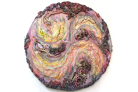 <strong>MIXED MEDIA AND EMOTIONS:</strong>  <em>IRL (with one eye laughing and one eye weeping)</em> is a mixed-media sculpture by Vanesa Gingold.