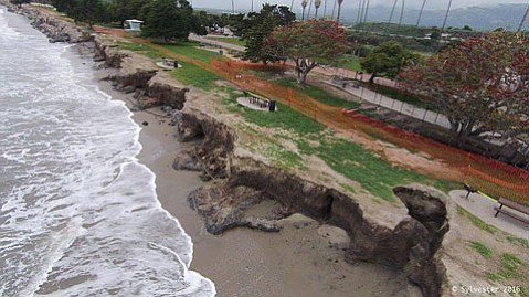 """""""We knew sand berms just wouldn't cut it,"""" said Ed de la Torre, of Friends of Goleta Beach Park."""