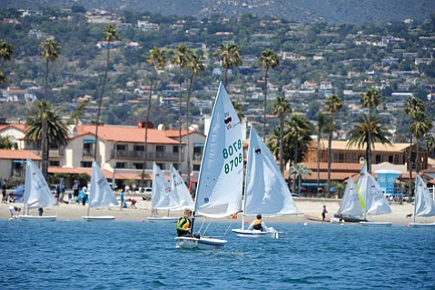<b>WIND AND WISDOM: </b>The Sea Shells learn about sailing and life every Sunday down at West Beach.